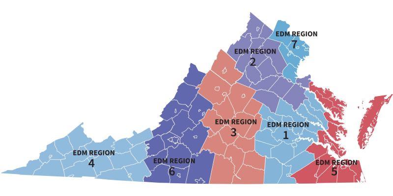 Stoolbend Virginia Map.Regions